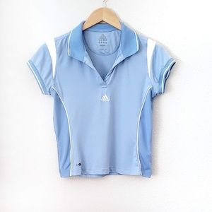 Adidas ClimaLite Collared Short Sleeve Tennis Polo